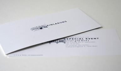 Gerda Wimmer - Grafik- Einladungskarte