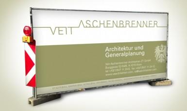 Bauzaunwerbung - Veit Aschengrenner